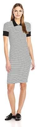 Three Dots Women's Short Sleeved Collar Dress