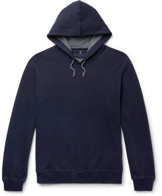 Brunello Cucinelli Fleece-Back Cotton-Jersey Hoodie