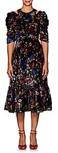 Erdem Women's Anthea Embellished Floral Velvet Dress - Black Multi