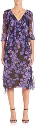 Jason Wu Women's Floral Chiffon Long Sleeve Day Dress