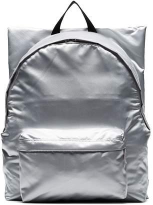 Raf Simons x Eastpak silver Punk Poster print backpack