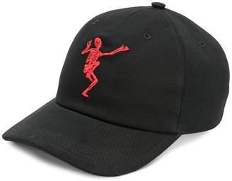 Alexander McQueen dancing skeleton embroidered cap