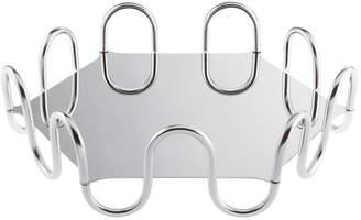 Sambonet Kyma Decorative Tray - Stainless Steel - Hexagon