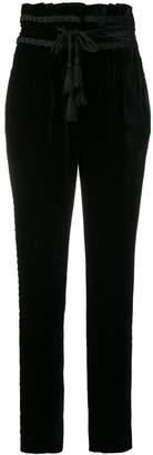 Alberta Ferretti high rise velvet trousers