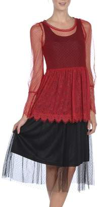 The Vintage Valet Red Lace Top