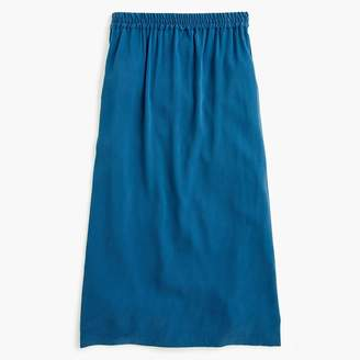 J.Crew Universal Standard for Cupro shirred midi skirt