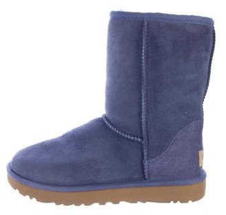 UGG Australia Suede Round-Toe Ankle Boots $125 thestylecure.com
