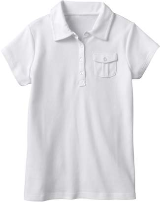 Chaps Girls 7-16 Interlock School Uniform Polo