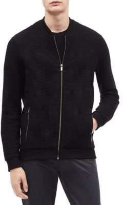 Calvin Klein Cotton Blend Bomber Sweater