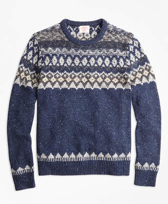 Brooks Brothers Wool-Alpaca-Blend Fair Isle Sweater