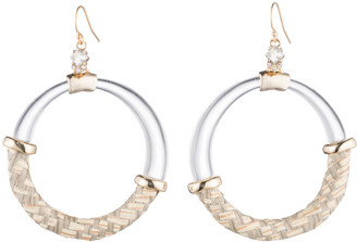 Alexis Bittar Raffia Hoop Wire Earring