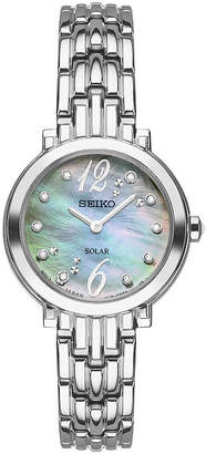 Seiko Tressia Womens Silver Tone Bracelet Watch-Sup353