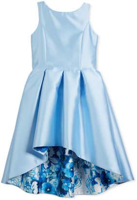 Zoe Matte Sateen Floral High-Low Dress, Size 4-6X