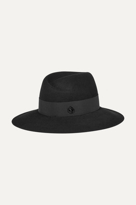 Maison Michel Virginie Rabbit-felt Fedora - Black