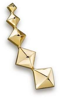 Chicco Zoë 14K Yellow Gold Graduated Pyramid Single Ear Cuff, Left