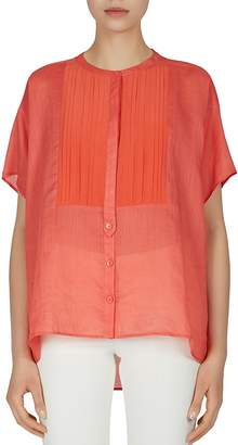 Gerard Darel Capri Pleated Bib Blouse