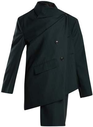 Balenciaga Pulled check wool and mohair-blend jacket
