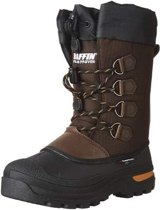 Baffin Kids Kids JET Snow Boots, Brown/Orange, 4 Big Kid M US