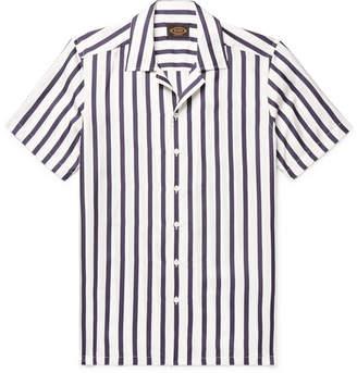 Tod's Camp-Collar Striped Silk-Twill Shirt - White