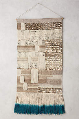 Anthropologie Navy-Dipped Kilim Tapestry Wall Art