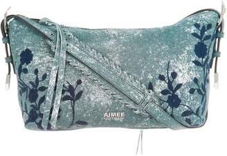 Aimee Kestenberg Pebble Leather Embroidered Crossbody