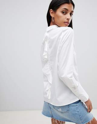 Noisy May Ruffle Back Shirt