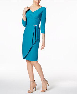 Alex Evenings Ruched Faux-Wrap Dress $229 thestylecure.com