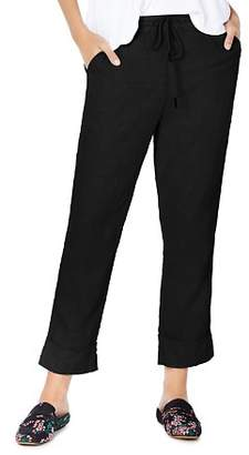 Michael Stars Linen Cuffed Drawstring Pants