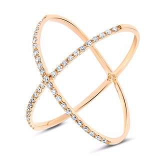 Cosanuova - Crisscross Diamond Ring 18k Yellow Gold