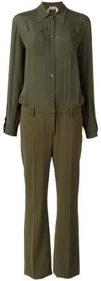No.21 shirt jumpsuit