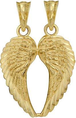 FINE JEWELRY 10K Yellow Gold Double Angel Wings Charm