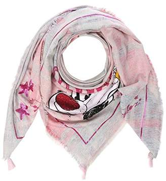 Frog Box FROGBOX Women's Scarf w Tweety and Sylvester Shawl