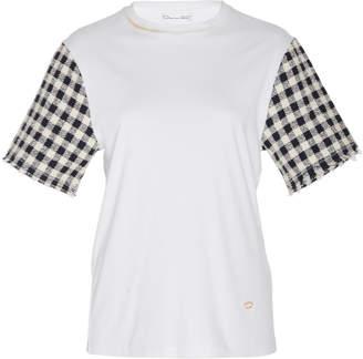 dbb455e181c8be Oscar de la Renta Tweed Short Sleeve Blouse