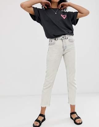 Cheap Monday organic cotton Revive rigid slim jeans with raw hem