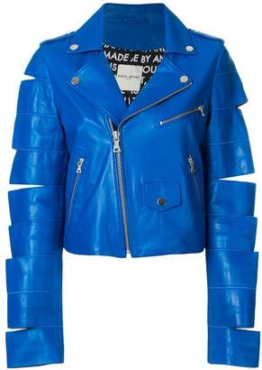 Each X Other cut sleeve biker jacket