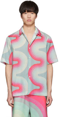 Dries Van Noten Green Verner Panton Edition Wave Carlton Bowling Shirt