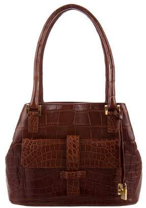 Loro Piana Crocodile Globe Bag
