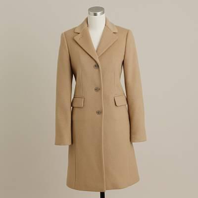 Wool-cashmere plaza coat
