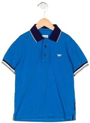 Armani Junior Boys' Collar Button-Up Shirt