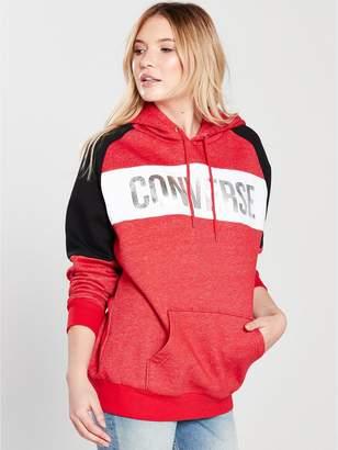 Converse Metallic Oversized Hoodie - Red