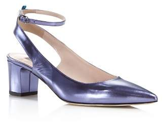 Sarah Jessica Parker Maya Metallic Leather Ankle Strap Pumps - 100% Exclusive