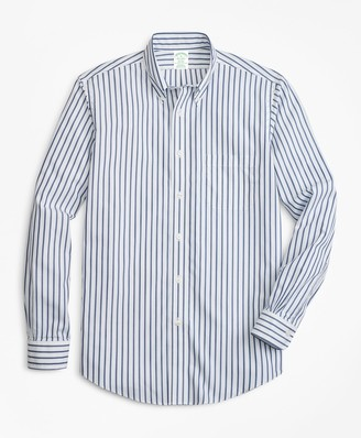 Brooks Brothers Non-Iron Milano Fit Wide Stripe Sport Shirt