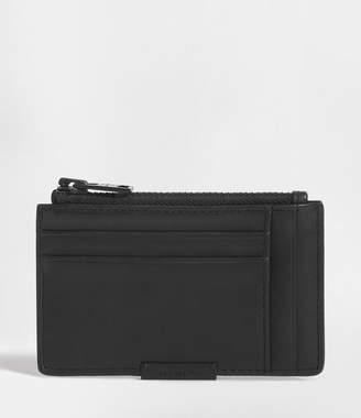 AllSaints Astor Leather Zip Cardholder