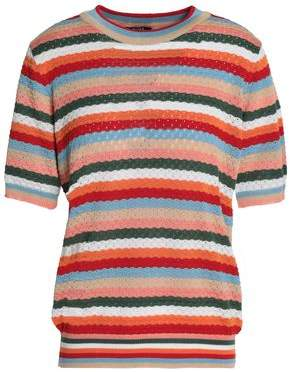 Raoul Striped Pointelle-Knit Cotton-Blend Sweater