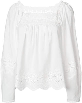 Ulla Johnson embroidered-detail blouse