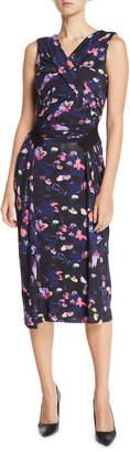 Jason Wu Sleeveless V-Neck Floral-Print Jersey Day-to-Evening Dress