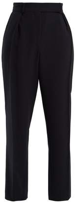 A.p.c. - Isola High Rise Straight Leg Cady Trousers - Womens - Navy