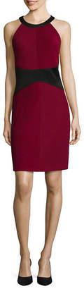 Ronni Nicole RN Studio by Textured Colorblock Sheath Dress