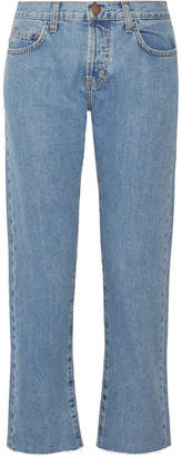 Current/Elliott The Original Straight High-rise Jeans - Mid denim