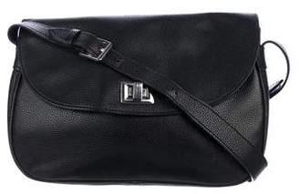 Longchamp Leather Flap Crossbody Bag